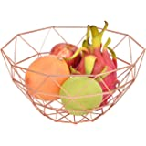 Classipro Stainless Steel Rose Gold Multipurpose Fruit and Vegetable Stand for Kitchen Steel Basket for Dining Table