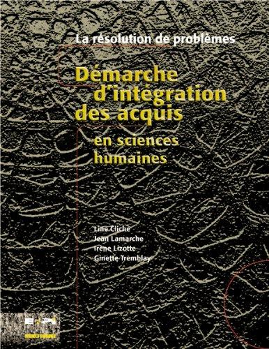 Démarche d'intégration des acquis en sciences humaines : La résolution de problèmes