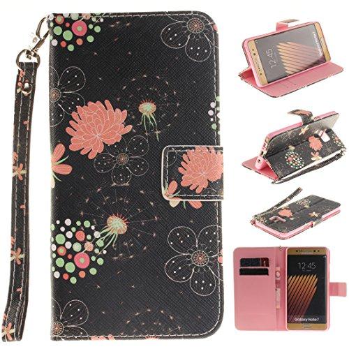 Nancen Samsung Galaxy Note 7 / SM-N9300 Handytasche / Handyhülle. Flip Etui Wallet Case in Bookstyle - Premium PU Lederhülle Hülle Cover Mit Lanyard / Strap, Standfunktion, Kreditkarte und Brieftasche