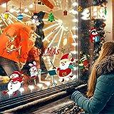 Natale Adesivi Porta Natale Vetrofanie Addobbi Fai da te Finestra Sticker Decorazione Babbo Natale Vetrina Wallpaper Adesivi(