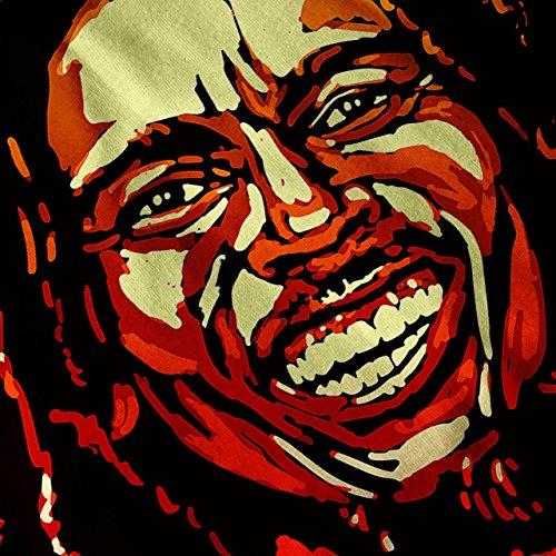 Bob Marley Sänger Berühmt Star Damen Schwarz S-2XL Muskelshirt | Wellcoda Grau