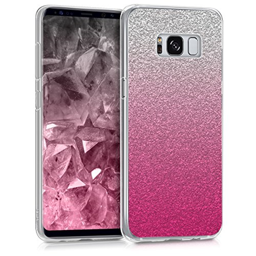 kwmobile Samsung Galaxy S8 Hülle - Handyhülle für Samsung Galaxy S8 - Handy Case in Pink Silber Transparent Pink Handy Cover