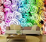 Fototapete Regenbogen Rosentraum 420 x 270 cm Wandgestaltung Wanddekoration Fototapeten