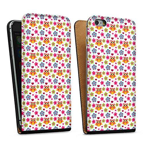 Apple iPhone 5 Housse étui coque protection Hibous couleurs Motif Sac Downflip noir