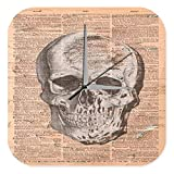 Wanduhr Anatomie Wissenschaft Totenkopf Arzt Medizin Deko