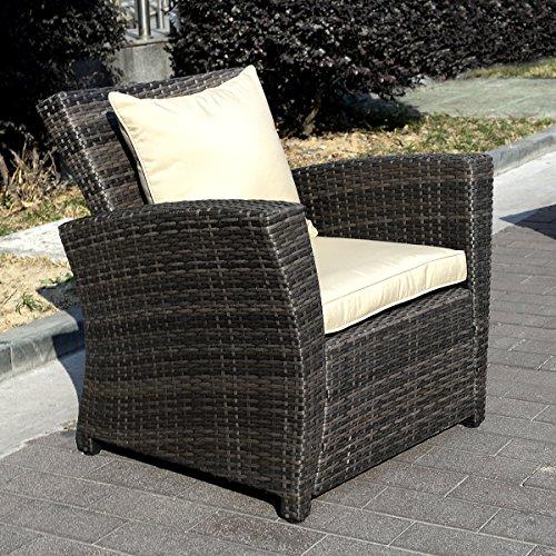 11tlg.Gartenmöbel Rattan Lounge Set Polyrattan Sitzgruppe Rattanmöbel Garnitur Garten - 5
