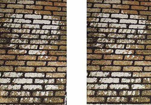 Generico RICEVI 2 Pannelli Mattoni di Sughero Verniciato 33x25 cm Spessore 10 mm Foglio Pannello per PASTORI PRESEPE San Gregorio ARMENO Artigianali sheperds Crib