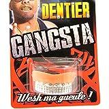 """Dientes postizos """"Gangsta""""plateado."""