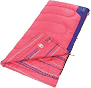 Coleman Kids 50 Degree Sleeping Bag, Pink