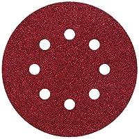 Wolfcraft 2070100 Disques agrippants perforés Grain 80 Diamètre 125 mm Lot de 25