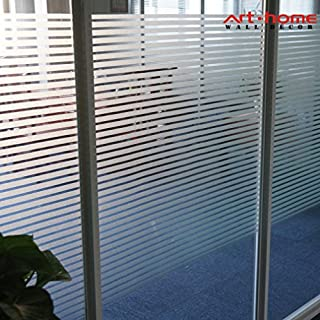 Arthome Frosted Decorative Privacy Window Films No Glue Self Static Cling Anti UV Non-Adhesive Removable for Bathroom Living Room Bedroom Kitchen Office Home (AH042, 35.4 x 100 inch)