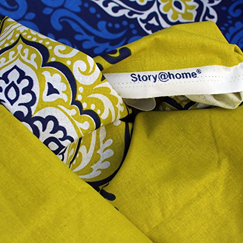 Story@Home Premium 120 TC Cotton Double Bedsheet with 2 Pillow Covers - Navy Blue