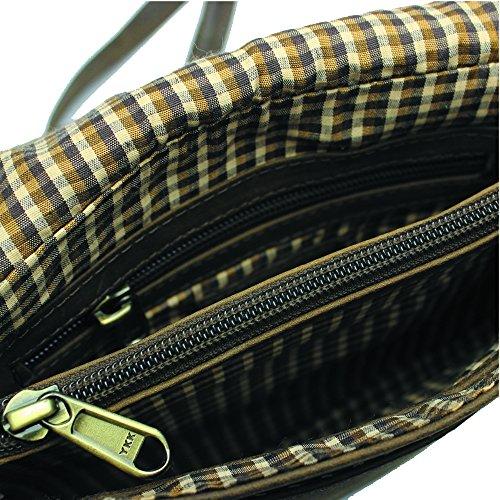 Jenes & Jandura Moon Bag, Borsa a spalla donna Small Tabacco