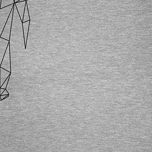 NERDO -  Felpa con cappuccio  - Collo a U  - Maniche lunghe  - Donna grigio mélange