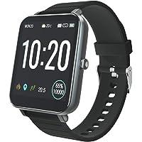 YIRSUR Smartwatch Fitness Tracker, 5 ATM wasserdichte Smart Watch herrenuhr Armbanduhr Sportuhr mit Herzfrequenz…