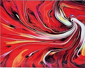 Kare Image Verre Chaos Fire, plastique, rouge, 0,04x 120x 150cm