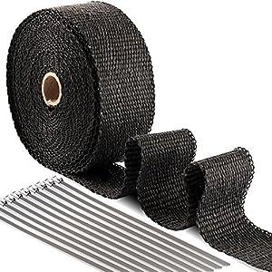 10m Keramik Hitzeschutzband 50mm weiss 1200°C *** Heat Wrap Turbo Fächerkrümmer