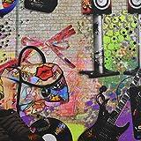 Jugendliche Foto ddigital bedruckt Farbe Baumwolle Vorhang