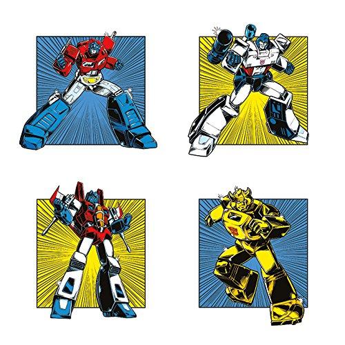Transformers WDC95745 Toile Imprimée, Bois Dense, Multicolore, 40 x 40 cm
