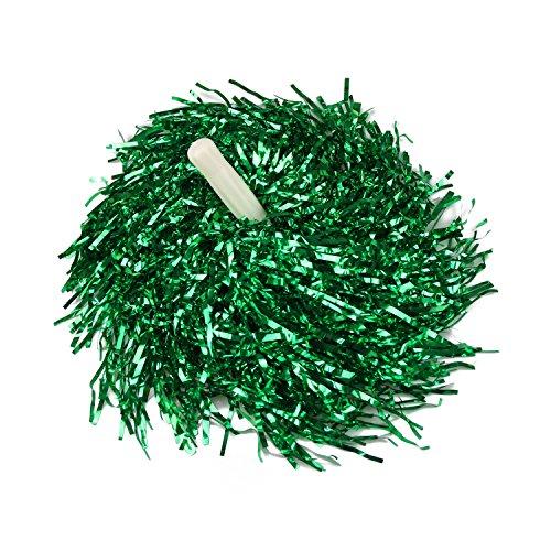 VENI MASEE 1 Paar Gerade Hand Shank Cheerleader Pompons, Preis/2 Stück, 0.025 kg/Stück, 6 Farben - grün (Cheerleader-grün)