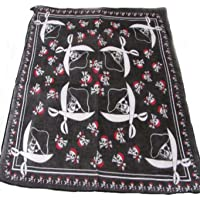 100% cotton Black With skulls and crossbones with bandanas and Skulls with hats and crossed sabres design Bandana ,55cm…