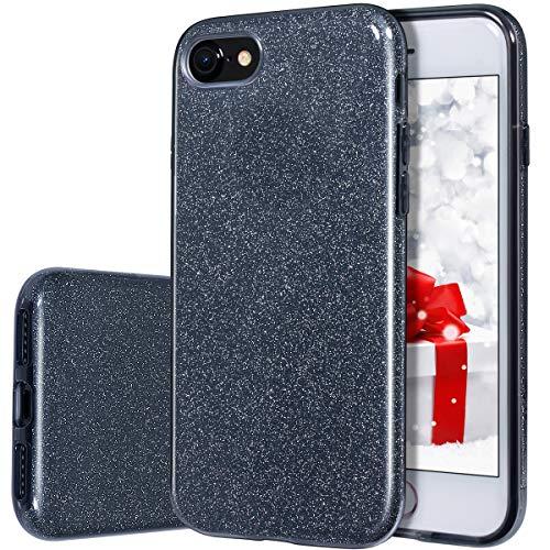 iPhone 7Fall, milprox glänzend Glitter Fall [Bling Crystal Clear] [extrem Sparkly], Slim Premium 3Layer Hybrid, Anti-Slick/Schutzhülle/Soft Case, iPhone 7Fall - 6 Iphone Ersatz-bildschirm-pink