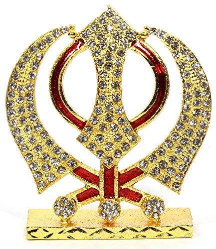 eknoor car dashboard idol- metal carving khanda sahib idol with japa mala Eknoor Car Dashboard Idol- Metal Carving Khanda Sahib Idol with japa mala 61yEB5wtq7L