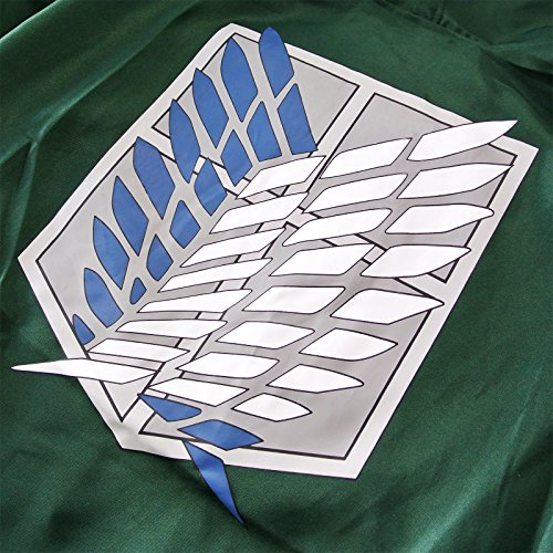 Attack On Titan Levi Ackerman - Scout Logo Cape grün Abbildung 3