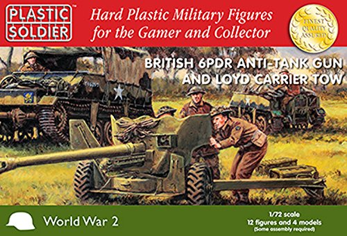 1/72nd British 6 pdr anti tank gun and Loyd carrier tow -