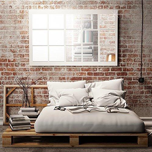 Extraíble autoadhesiva pegatinas de pared cuadrada espejo de pared Arte Mural Adhesivos Vinilo decoración del hogar papel tapiz habitación de los niños regalo 62x 62cm), color plateado