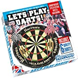 """Cible traditionnelle sisal HARROWS """" Let's play Darts"""""""