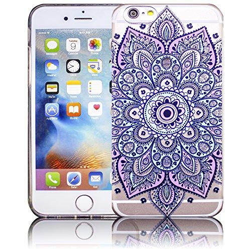 Apple iPhone 6 / iPhone 6S - Design 11 Silikon Crystal Kristall clear transparent durchsichtig Schutz-Hülle Hülle weiche Tasche Cover Case Bumper Etui Flip smartphone handy backcover Schutzhülle Handy Design 11
