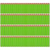 SolPortalHome 100 x Kind Geschenk Spielzeug Waffe Kugel Schaumstoff Dart für NERF N-STRIKE ELITE Waffen (Grün)