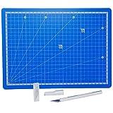 SBS® Schneidmatte blau A4 30 x 22 cm + Bastelmesser + 10 Ersatzklingen gratis SB429.3