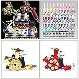 prit2016 Tattoo Komplett Tattoomaschine Set 2 Rotary Maschinen 40 Inks Farben DHL