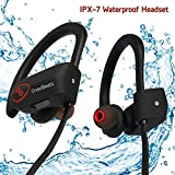 CrossBeatsTM Wave Wireless Bluetooth Headset Headphones -IPX7 Waterproof V4.1, 8 Hrs Playtime ,Black