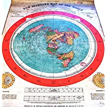 Flat Earth Poster Prints: Gleasons New Standard Map of the World 1892 - PVC Weatherproof Tarpaulin