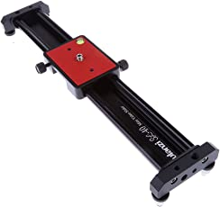 Segolike 16.53'' Camera Track Dolly Slider Rail System for Stabilizing Photograph Movie Film Video Making DSLR Camera