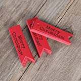 Yudanwin etichette regalo Craft cartellini Merry Christmas segnalibro da appendere etichette etichette