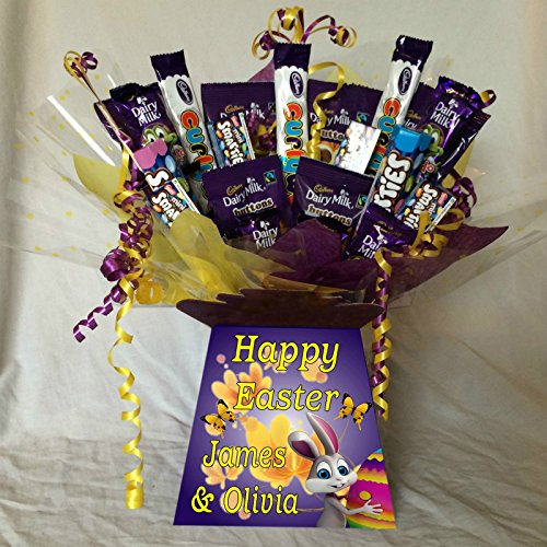 Kids Easter Mix Sweet Chocolate Bouquet With Personalised Bouquet Box