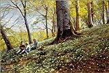 Posterlounge Acrylglasbild 180 x 120 cm: Frühling im Foraan Enrum Park von Peder Mork Monsted/ARTOTHEK - Wandbild, Acryl Glasbild, Druck auf Acryl Glas Bild