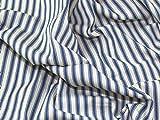 Inlett Streifen gewebte Baumwolle Canvas Möbelstoff Denim Blau–Meterware