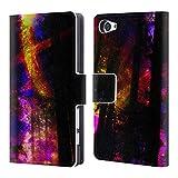 Head Case Designs Offizielle Haroulita Saturn-Blitz Raum Brieftasche Handyhülle aus Leder für Sony Xperia Z5 Compact