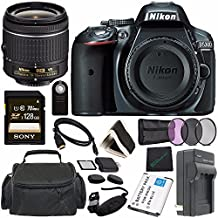 Nikon D5300 DSLR Camera With AF-P 18-55mm VR Lens (Grey) + Toshiba Flash Air III Wireless SD Memory Card 16GB + Fibercloth Bundle