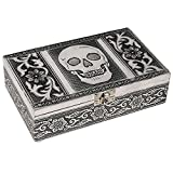 Kitchen & Housewares : HAB & GUT (BOX011V) Aluminium jewellery box, SKULL, 7.9 x 4.7 x 2.4 inches
