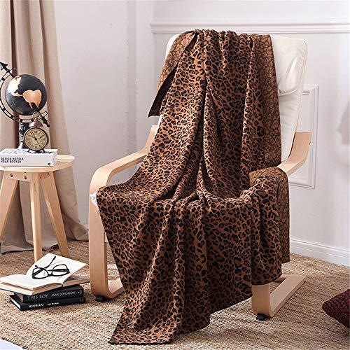 MMHJS Nordischen Stil Große Warme Und Weiche Leopard Baumwollfaden Gestrickte Decke Klimaanlage Sofabezug Decke Baumwolldecke