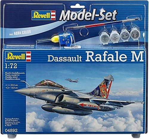 Revell Modellbausatz Flugzeug 1:72 - Dassault Rafale M im Maßstab 1:72, Level 3