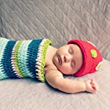 Tinksky Crochet Caterpillar Costume Baby Clothes Photo Props for Unisex Babies of 3~6 Months