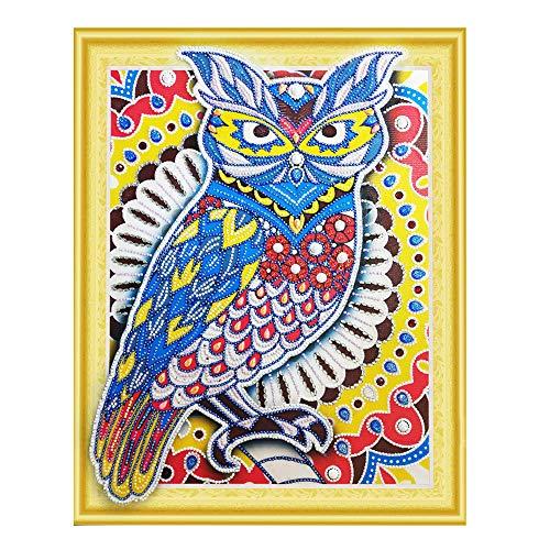 Wokee Diamant-Gemälde DIY 5D Teil-Bohrer Kreuzstich Kits Kristall Strass Bild Serien Diamant Stickerei Kunst Handwerk 40 x 50 cm, g, m -