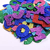 Glitter Foam Stickers Letter Sticker Self Adhesive Letters, Assorted Colors, 5 Sets